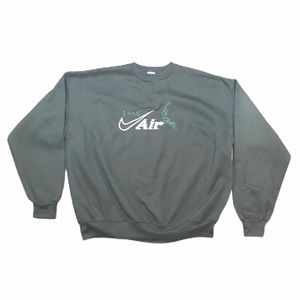 vintage nike air i can black crewneck sweater